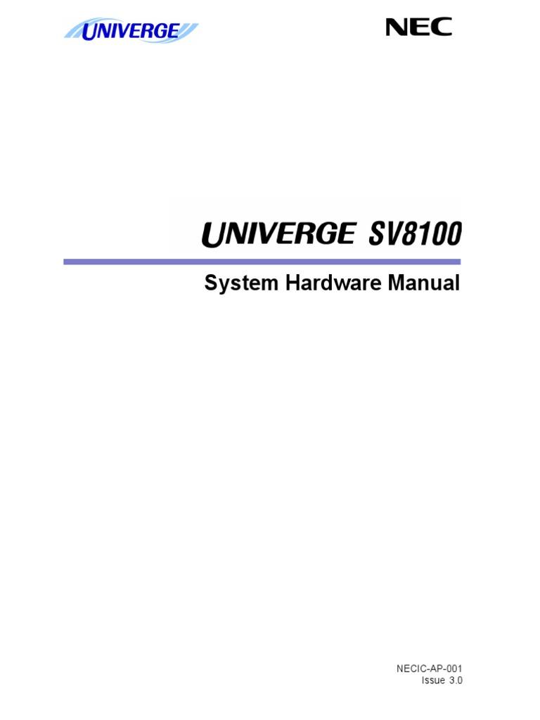 SV8100 Hardware Manual (3[1].0GE) | Electrical Connector | Computer Hardware