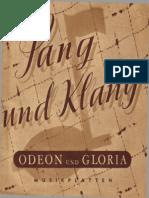 1938 - Odeon Und Gloria Musikplatten - Sang Und Klang