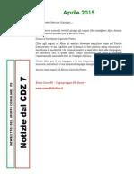 Newsletter di APRILE 2015 del Gruppo Consiliare PD di Zona 7-Milano