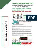 Newsletter di LUGLIO, AGOSTO e SETTEMBRE 2015 del Gruppo Consiliare PD di Zona 7-Milano