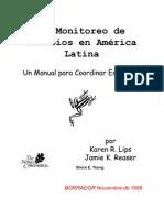 monitoreo Anfibios latinoamerica