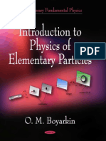 Introductio to Physics of Elementary Particles