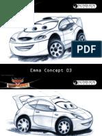 Cars Coloring Concept art Emma