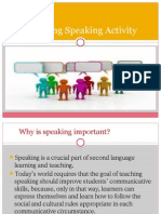 Planning Speaking Activity