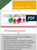 Planning Speaking Activity