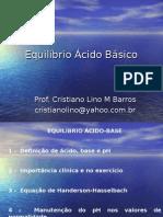 Bioquímica - Equilíbrio ácido/básico