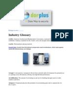 Window and Door-Industry Glossary