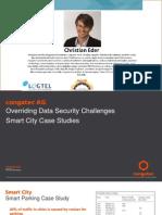 01. Overriding Data Security Challenges – Smart City Case Studies_Christian Eder_Congatec AG_Smart City 2015