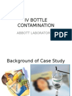 IV Bottle Contamination