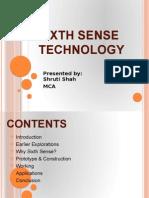 Sixth Sense Technology