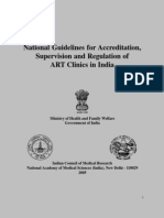 Guidelines for ART Clinics in India