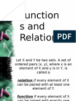 1.1 Functions and Relation