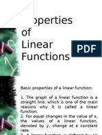 2.1 Properties of Linear Functions