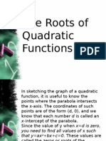 3.2 the Roots of Quadratic Functions