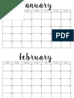 Free Printable Calendar 20163