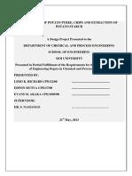 Production of Puree & Potato Product