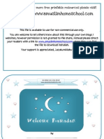 Welcome Ramadan Colouring Book Preschool
