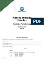 Bizhub 25 Parts Manual