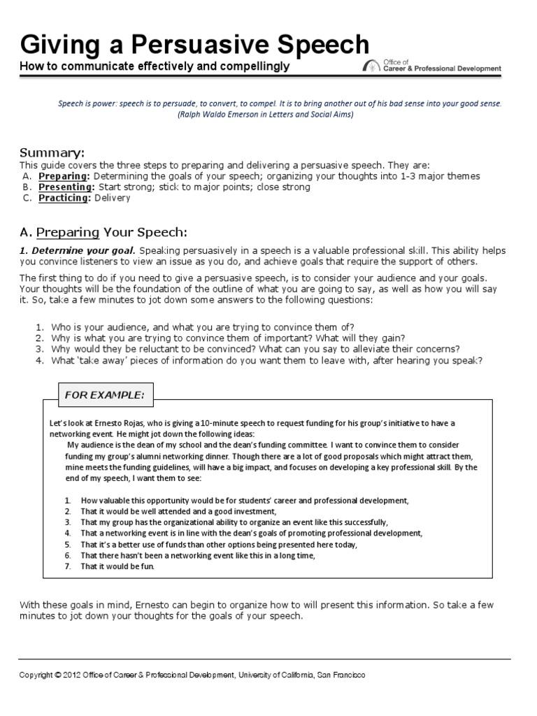 Howtogiveapersuasivespeech pdf | Public Speaking | Persuasion