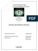 Holding and Subsidiary Companies
