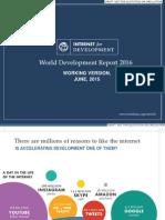 Internet World Development Report 2016 Presentation