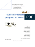 subsector pesquero y subsector forestal