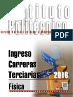 FÍSICA - Ingreso al Terciario 2016