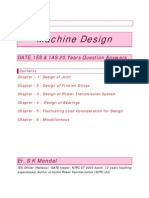 Machine Design SK Mondal