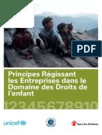 Principes Régissant Les EntreprisesDans Le Domaine Des Droits de l'Enfant
