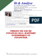 Projet de Loi de Finances 2015 Rapport Economique Et Financier