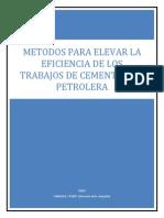 Metodos Para Elvar La Eficiencia de Los Trabajos de Cementacion