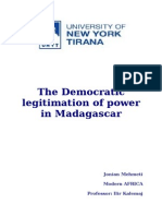The Democratic Legitimation of Power in Madagascar