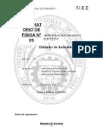 Informe de Laboratorio Dinamica de Rotacion