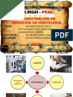 Infraestructura y Actividades Del Área de Lavandería y Ropa