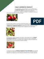 5 frutas con vitamina C, historia del cacao, tipos de chocolates.docx