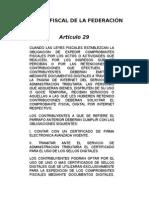 Código Fiscal de la Federación- Artículo 29 y 29-A