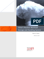 China's Nuclear Warhead Storage and Handling System