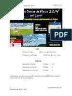 Olimpiada Online de Física 2014