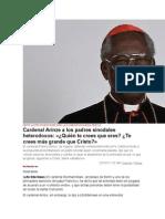 Ante La Propuesta de Dar La Comunión a Adúlteros