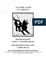 Programación Familia Romana. Lomce. Primero Bachillerato.octavio Serrano Monteagudo