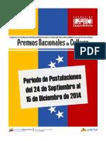 Bases Premios Nacionales de Cultura 2012-2014pdf