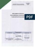 11. RO-GS-002 Reglamento de EECC y Subcontratistas Pelambres