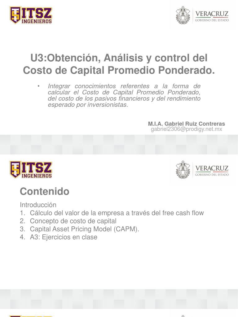 Analisis y Control Del Costo de Capital Promedio Ponderado.y Capm