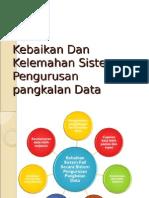 Kebaikan Dan Kelemahan Sistem Pengurusan Pangkalan Data