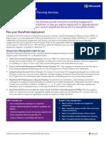 SharePoint Deployment Planning Services Datasheet