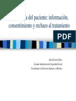 Autonomía Del Paciente-Información, Consentimiento y Rechazo Al Tratamiento
