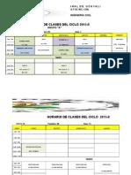 Horario Ing. Civil 2015-II