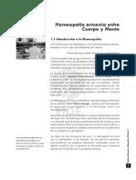 MEDICINA NATURAL v. Capitulo 1. Homeopatía Armonía Entre Cuerpo y Mente