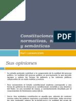 Constituciones Normativas, Nominales y Semánticas