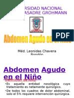 Abdomen Agudo en El Niño Terminado!!